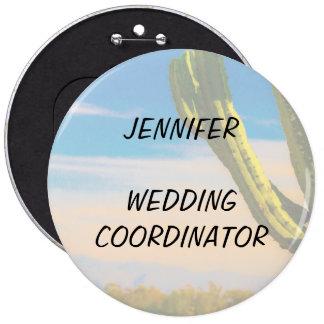Coordinador del boda del cielo azul del cactus del chapa redonda de 15 cm