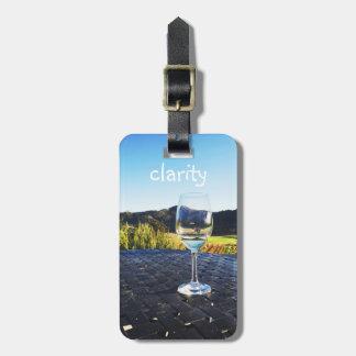 Copa de vino de motivación el || de la cita el || etiqueta para maletas