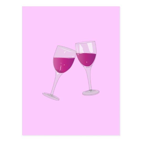 Copas de vino postal