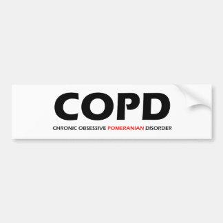 COPD - Desorden obsesivo crónico de Pomeranian Pegatina Para Coche