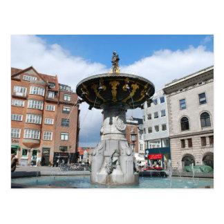Copenhague Dinamarca, fuente bien de Caritas Postal