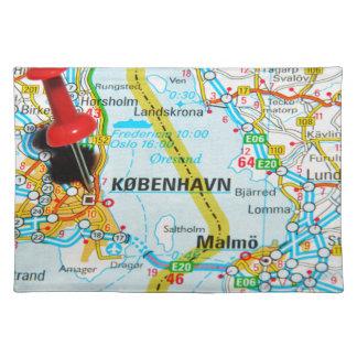 Copenhague, København en Dinamarca Salvamanteles