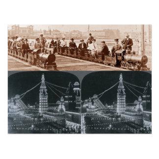Copia de los trenes viejos de Coney Island y de la Postal