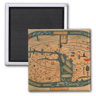 Copia de un mappamundi del siglo VIII de Beatus Imán Para Frigorífico