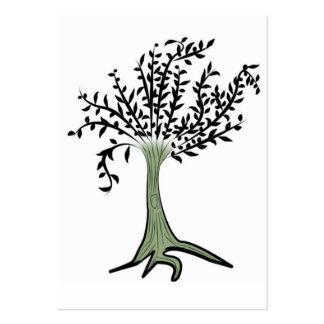 copia del árbol tarjetas de visita grandes