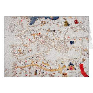 Copia del mapa catalán de Europa África del Norte Tarjeta