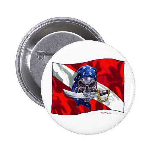 copia del piratediveflag pin