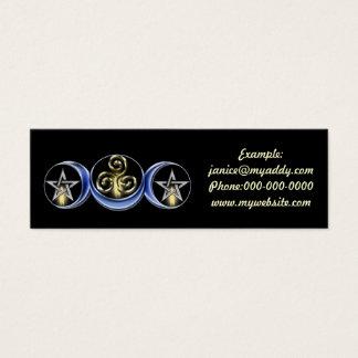 Copia lunar del espiral de la luna, ejemplo: tarjeta de visita pequeña