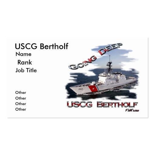 copia profunda, USCG Bertholf, nombre, fila, traba Plantilla De Tarjeta Personal
