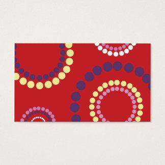 copia roja de la ondulación tarjeta de negocios