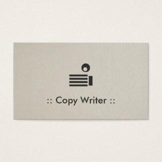 Copie al profesional elegante simple del escritor tarjeta de negocios