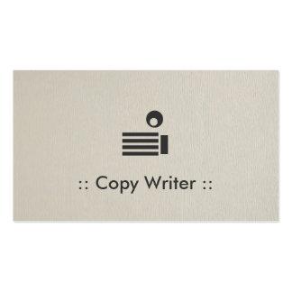 Copie al profesional elegante simple del escritor plantilla de tarjeta de visita