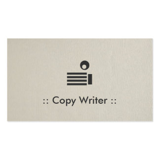 Copie al profesional elegante simple del escritor tarjetas de visita