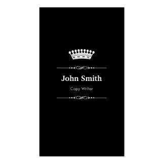 Copie el blanco negro real elegante del escritor tarjetas de visita