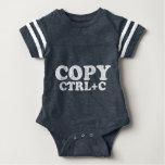 COPIE el Ctrl+C copia a gemelos de la goma Camiseta