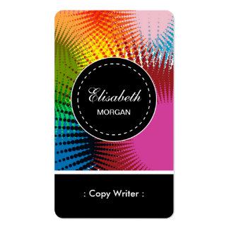 Copie el modelo abstracto colorido del escritor tarjetas de visita
