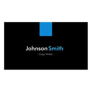 Copie la aguamarina moderna del escritor azul tarjetas de negocios