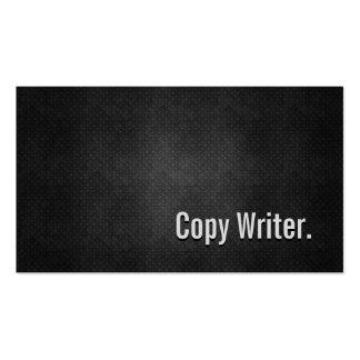 Copie la simplicidad negra fresca del metal del es tarjeta de visita