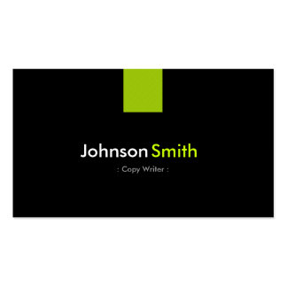 Copie la verde menta moderna del escritor tarjetas de negocios