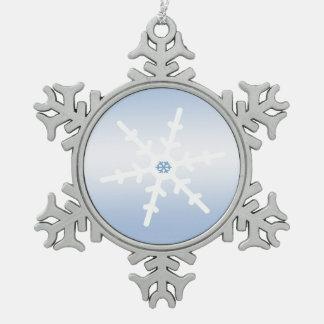 Copo de nieve adorno de peltre en forma de copo de nieve