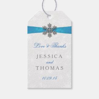 Copo de nieve de Diamante y boda del invierno de Etiquetas Para Regalos