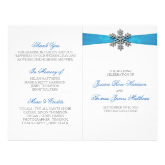 Copo de nieve de Diamante y boda del invierno de Folleto 21,6 X 28 Cm