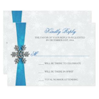 Copo de nieve de Diamante y boda del invierno de Invitación 8,9 X 12,7 Cm