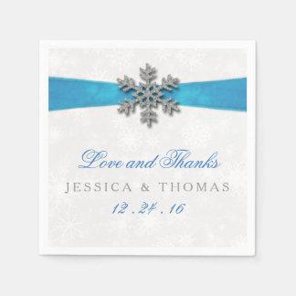 Copo de nieve de Diamante y boda del invierno de Servilleta De Papel