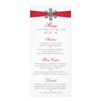 Copo de nieve de Diamante y boda rojo del invierno Plantilla De Lona