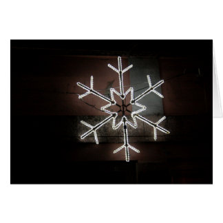 Copo de nieve de la tarjeta de Navidad