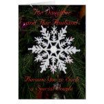 Copo de nieve de la tarjeta de Navidad de la hija