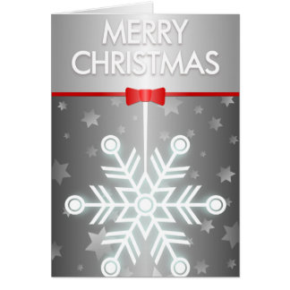 Copo de nieve decorativo de la estrella del día de tarjeta de felicitación