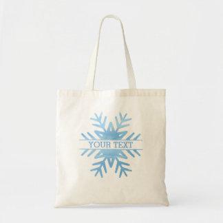 Copo de nieve del día de fiesta de la acuarela del bolso de tela