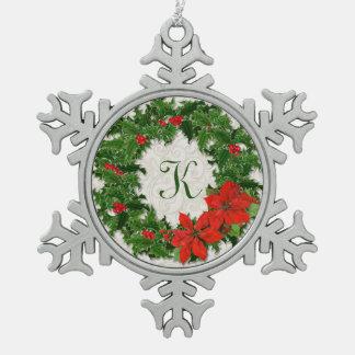 Copo de nieve del navidad de la guirnalda del aceb adorno