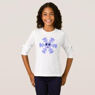 Copo de nieve divertido camiseta