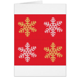 Copo de nieve hecho punto rojo tarjeta
