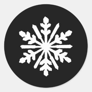Copo de nieve negro y blanco - pegatina del