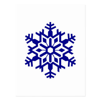 Copo de nieve postal