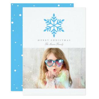 Copo de nieve simple (color Editable) Invitación 12,7 X 17,8 Cm