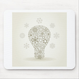 Copo de nieve un bulbo alfombrilla de ratón
