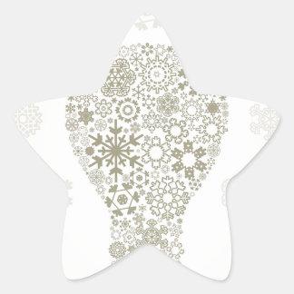 Copo de nieve un bulbo pegatina en forma de estrella