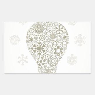 Copo de nieve un bulbo pegatina rectangular