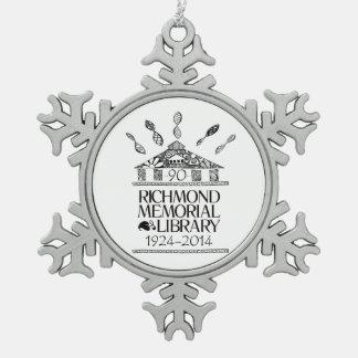 Copo de nieve y bola de cerámica Orn del estaño de Adorno De Peltre En Forma De Copo De Nieve
