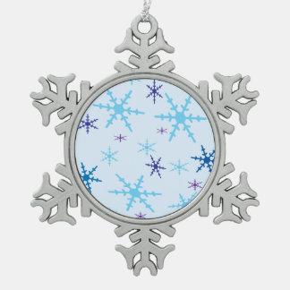 Copos de nieve adorno de peltre en forma de copo de nieve