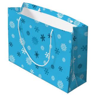 Copos de nieve bolsa de regalo grande