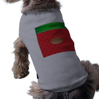 Copos de nieve conocidos personalizados del rojo camiseta sin mangas para perro