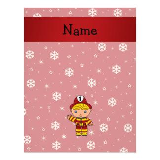 Copos de nieve conocidos personalizados del rojo folleto 21,6 x 28 cm