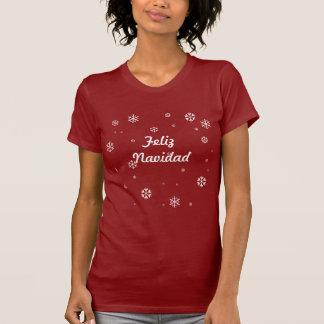 Copos de nieve de Feliz Navidad Camiseta