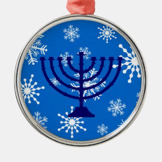 Copos de nieve de Jánuca Ornamento Para Arbol De Navidad