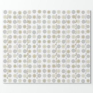 Copos de nieve de la plata/del oro - papel de
